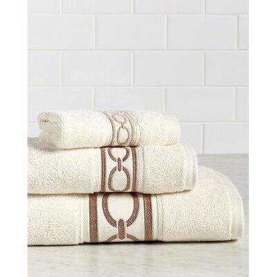 Berkeley Links Premium 600 GSM 3 Piece Turkish Cotton Towel Set Color: Ivory/Sand
