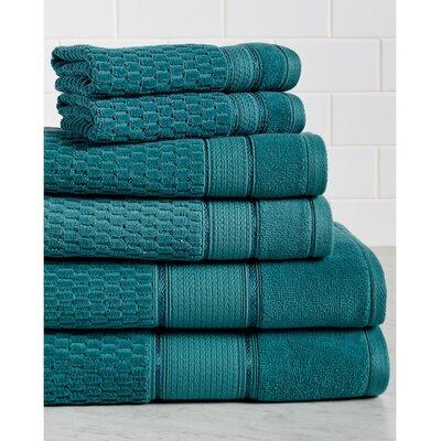 Amethyst Premium 600 GSM 6 Piece Turkish Cotton Towel Set Color: Everglade