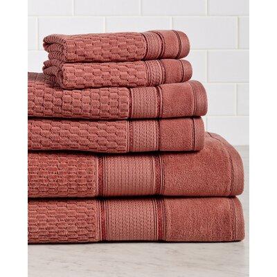 Amethyst Premium 600 GSM 6 Piece Turkish Cotton Towel Set Color: Ginger