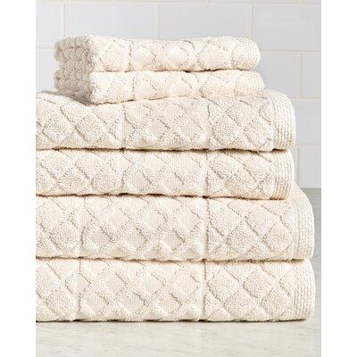 Carroll Premium 630 GSM 6 Piece Terry cloth Towel Set Color: Cream