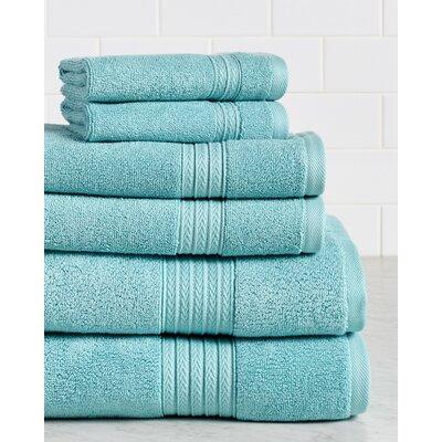 Germania Premium 625 GSM 6 Piece Turkish Cotton Towel Set Color: Aqua