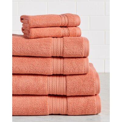 Germania Premium 625 GSM 6 Piece Turkish Cotton Towel Set Color: Coral