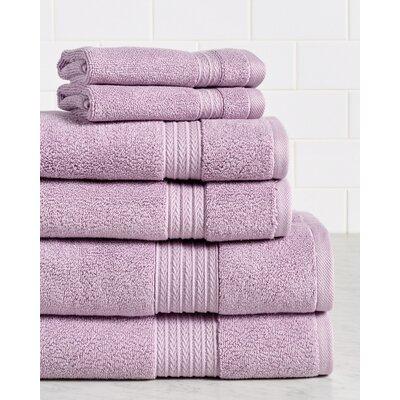 Germania Premium 625 GSM 6 Piece Turkish Cotton Towel Set Color: Lavender