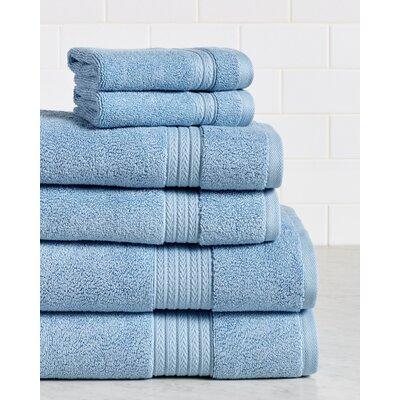 Germania Premium 625 GSM 6 Piece Turkish Cotton Towel Set Color: Marina