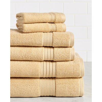 Germania Premium 625 GSM 6 Piece Turkish Cotton Towel Set Color: Straw