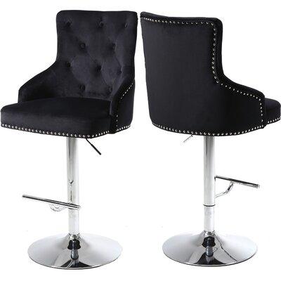 Bocana Adjustable Height Bar Stool Upholstery: Black