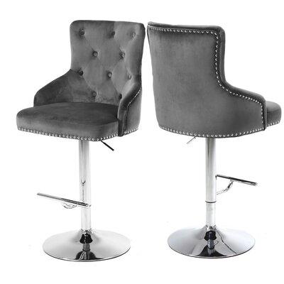 Bocana Adjustable Height Bar Stool Upholstery: Gray