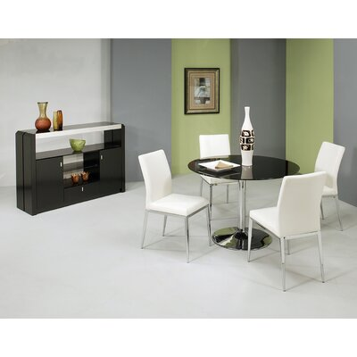 Jensen 5 Piece Dining Set Table Top Color: Black