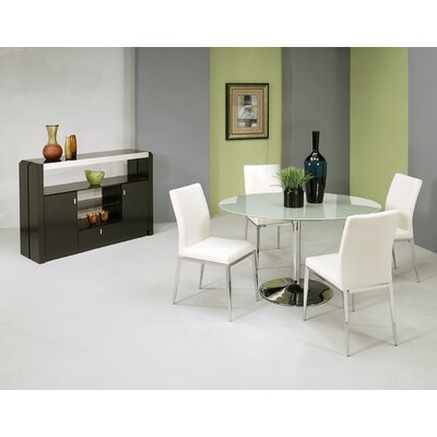 Jensen 5 Piece Dining Set Table Top Color: Frosted