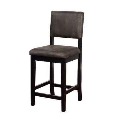 "Phillip 24"" Bar Stool Upholstery: Antique Charcoal"