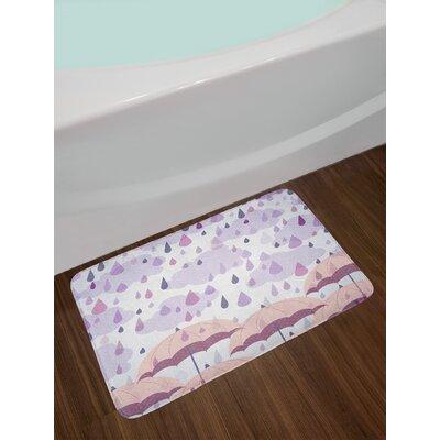 Lilac Pink Autunm Bath Rug