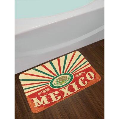 Multicolor Mexican Bath Rug