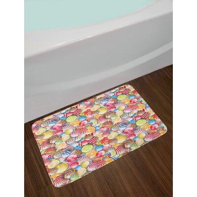 Multicolor Colorful Bath Rug
