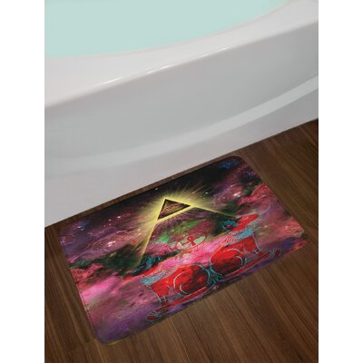 Plum and Red Astronomy Bath Rug