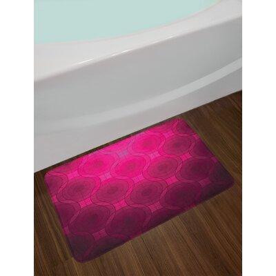 Magenta Disc Shaped Bath Rug