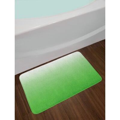 Gradient Aubergine White Ombre Bath Rug Color: Green