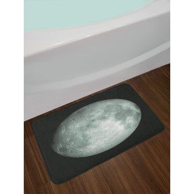 Galaxy Moon Graphic Bath Rug