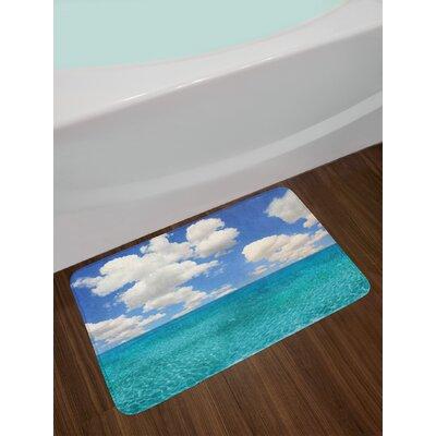 Dreamy Turquoise Aqua Ocean Bath Rug