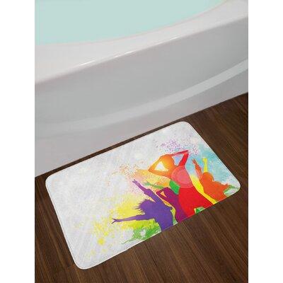 Party Theme Splashing Bath Rug
