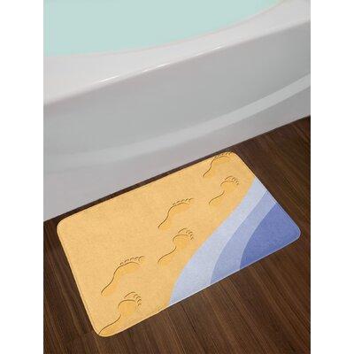 Footprints Modern Bath Rug