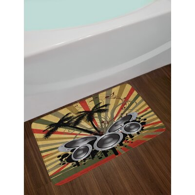 Palm Modern Bath Rug