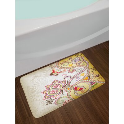 Asian Floral Bath Rug
