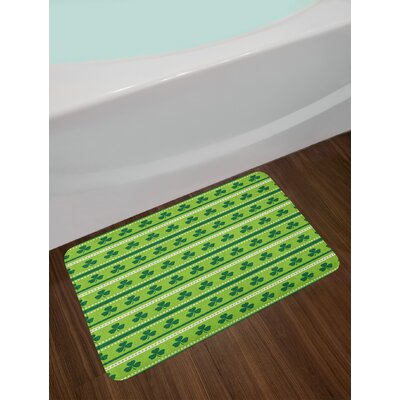 Traditional Green Bath Rug