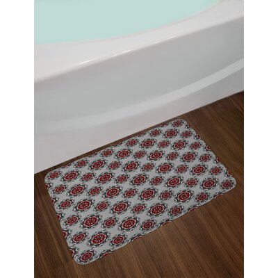 Persian Red and Black Bath Rug