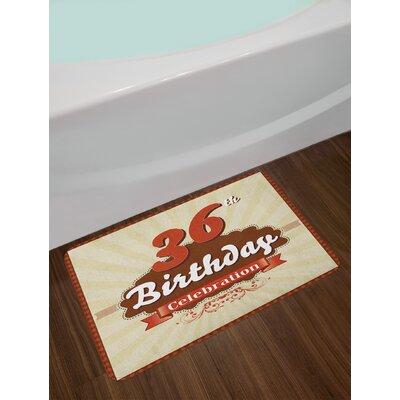 Birthday Celebration 36th Birthday Bath Rug