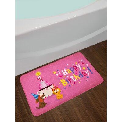 Animal 1st Birthday Bath Rug