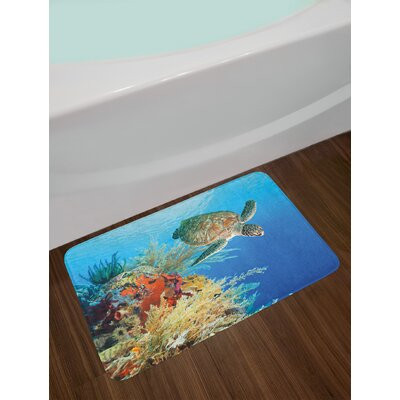 Colorful Turtle Bath Rug
