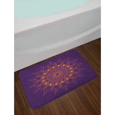 Mystic Purple Mandala Bath Rug