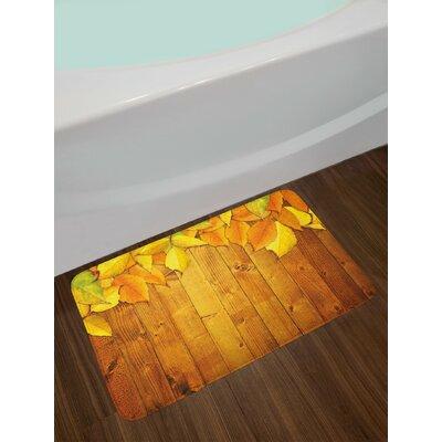 Colorful Yellow Orange Green Fall Bath Rug