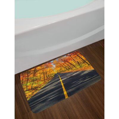 Endless Multicolor Fall Bath Rug