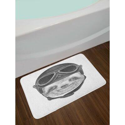 Hand Grey Black Sloth Bath Rug