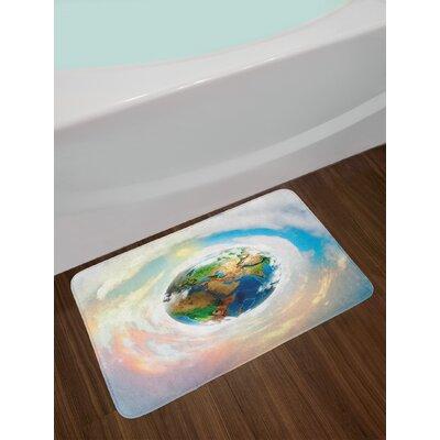 Vibrant Multicolor Earth Bath Rug