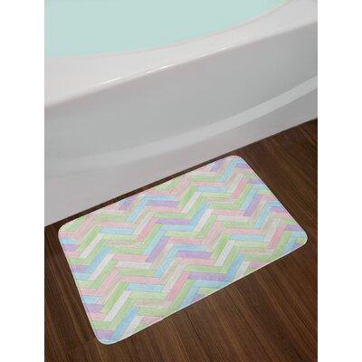 Soft Multicolor Pastel Bath Rug