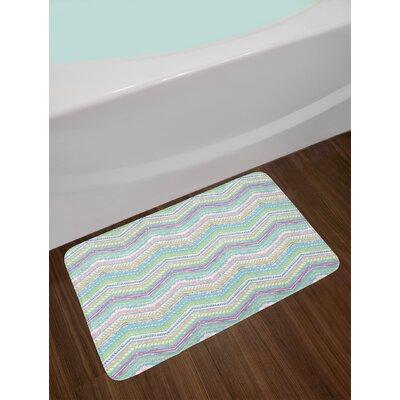 Hand Multicolor Pastel Bath Rug