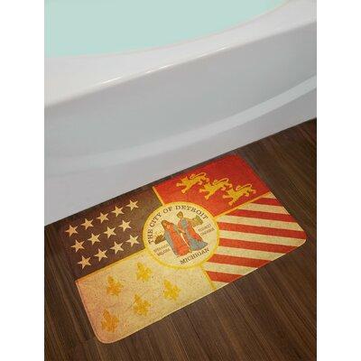 Historical Multicolor Detroit Bath Rug