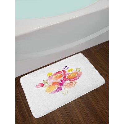 Watercolor Multicolor Pastel Bath Rug