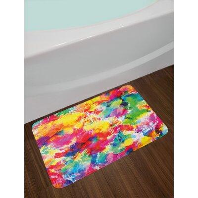 Oil Multicolor Pastel Bath Rug