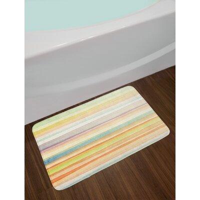 Horizontal Multicolor Pastel Bath Rug