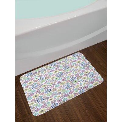 Cute Multicolor Pastel Bath Rug