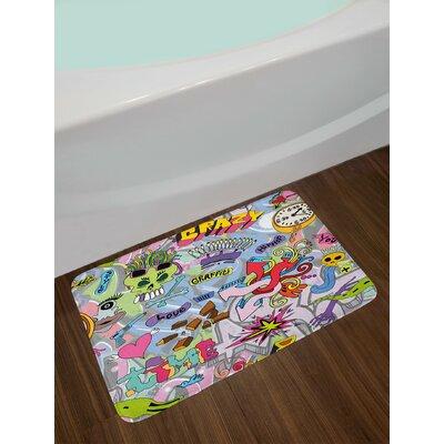 Hip-Hop Multicolor Art Bath Rug