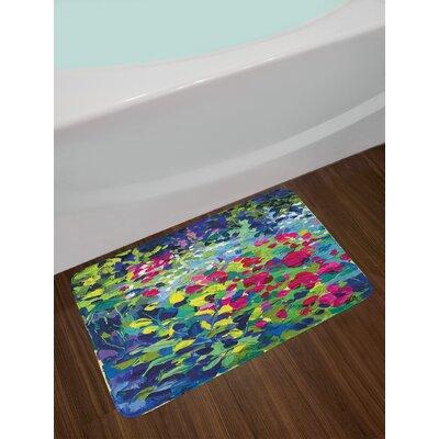 Floral Multicolor Art Bath Rug