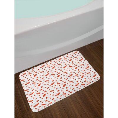 Tile Scarlet White Rowan Bath Rug
