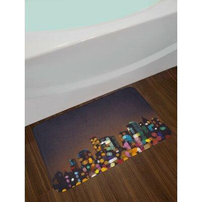 Cityscape Multicolor City Bath Rug