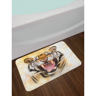 Young Multicolor Tiger Bath Rug