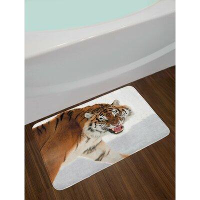 Panthera Pale Brown Tiger Bath Rug