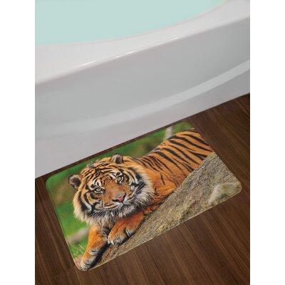 Noble Multicolor Tiger Bath Rug